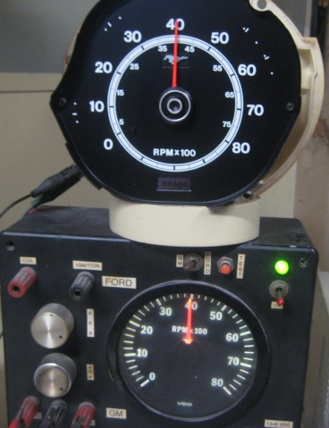 tachometer repair restotation for mustang classic cars rh tachman com Dixco Tach Wiring Diagram Motorcycle Tach Wiring