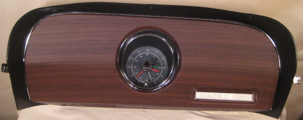 1970 mustang mach 1 main and clock side, completely resorted ! tachometer  has been converted to 3 wire!