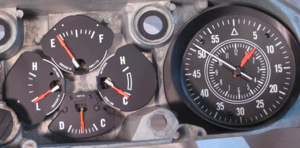 tachometer repair restoration for chrysler classic cars tachometer has our new solid state board that works all electronic ignition systems and the clock has been updated to quartz
