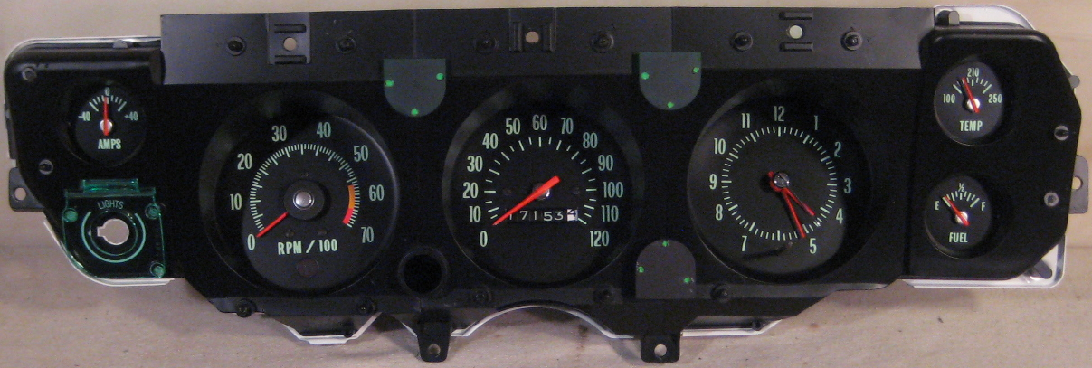 Chevelle Gauge Cluster Wiring Schematic Diagram