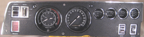 tachometer repair restoration for chrysler classic cars restored 1970 charger tach and gauge cluster customized on the right
