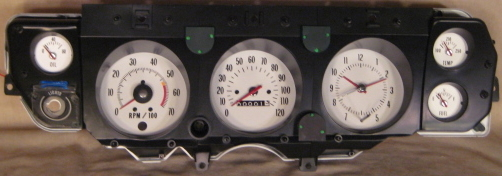 Tachometer repair restoration for chevelle classic cars 1970 ls 6 chevelle instrument cluster restored in white and 1972 cluster with oil pressure gauge publicscrutiny Gallery