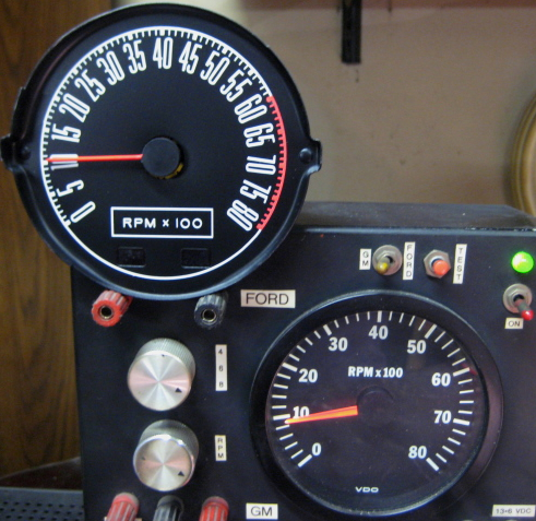 tachometer repair restotation for mustang classic cars rh tachman com Auto Meter Tach Wiring Auto Meter Tach Wiring