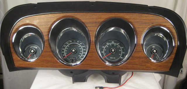 1968 Mustang Instrument Cluster - Shelby Clock Housing Restoration With Quartz Updated Clock - 1968 Mustang Instrument Cluster